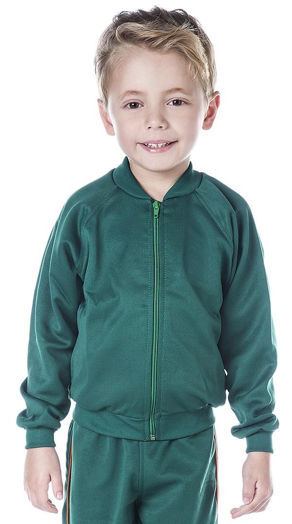 INFANTIL - Jaqueta Colegial Verde Bandeira