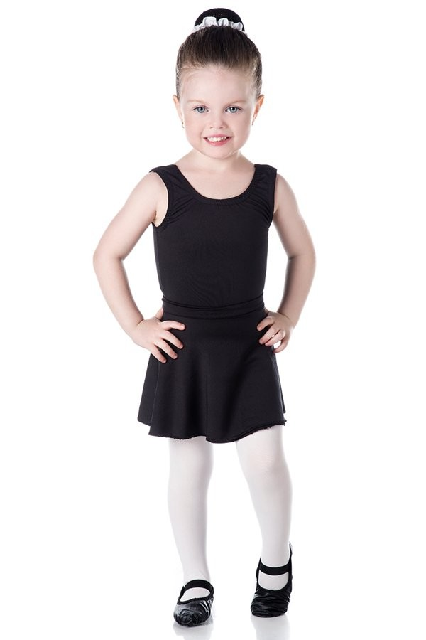 ADULTO - Collant de Ballet Regata Preto