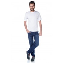 ADULTO - Camiseta Algodão Manga Curta Branca