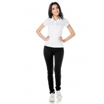 ADULTO - Baby Look Polo Branca