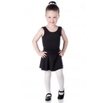 ADULTO - Collant de Ballet Regata Preto