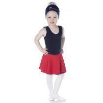 INFANTIL - Saia Bailarina Vermelha com Azul Marinho