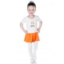 INFANTIL - Collant de Ballet Manga Curta com Saia