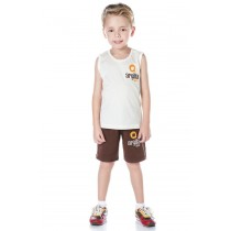 INFANTIL - Camiseta Algodão Regata
